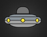 Desenho  Nave espacial extraterrestre pintado por ceciliaz