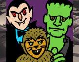 Desenho Personagens Halloween pintado por jabuti