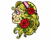 Desenho Tatuagem de Catrina pintado por alita