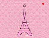Desenho Torre Eiffel pintado por luzinda