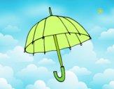 Desenho Um guarda-chuva pintado por luzinda