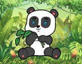 Desenho Um urso panda pintado por ImShampoo