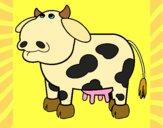 Desenho Vaca pensativa pintado por jabuti