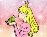 Desenho A princesa e da rã pintado por luzinda