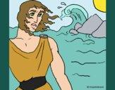 Desenho Odisseu pintado por Craudia