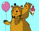 Desenho Papá urso pintado por Valeriah