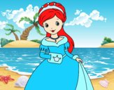 Desenho Princesa elegante pintado por luzinda