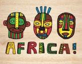 Desenho Tribos da África pintado por Craudia