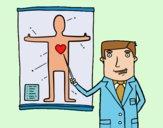 Desenho Médico explicando pintado por Craudia