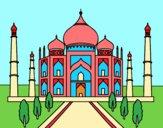 Desenho O Taj Mahal pintado por luzinda
