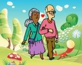 Desenho Dos avós pintado por AndressaBR