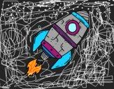 Desenho Foguete supersónico pintado por alya