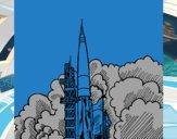 Desenho Lançamento foguete pintado por Gbriel