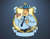 Desenho Polícia com filhós pintado por Craudia
