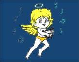 Desenho Cupido que joga a harpa pintado por angelafern