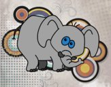 Desenho Elefante envergonhado pintado por orandi