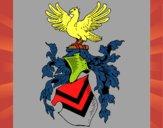 Desenho Escudo de armas e águia pintado por renatio