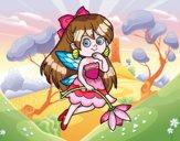Desenho  Fada da flor pintado por GabyFox