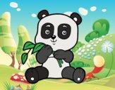 Um urso panda