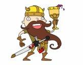 Viking celebrando