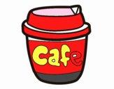 Desenho Xícara de café pintado por repelstelt