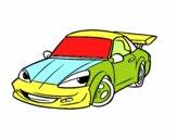 Carro desportivo com aileron