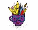 Desenho Copo animado com lápis pintado por ThaisH