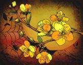Desenho Filial da cereja pintado por ceciliaz