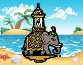 Desenho Taxi-elefante pintado por Craudia