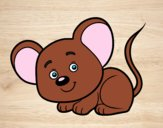 Desenho Um ratinho pintado por Ferabreu