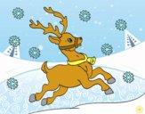 Desenho Uma rena do Natal pintado por Hermione