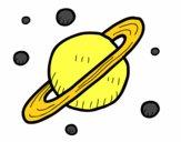 Desenho Satélites de Saturno pintado por Brunomigu1