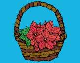 Desenho Cesta de flores 2 pintado por ceciliaz