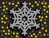 Desenho Copo de neve pintado por ceciliaz