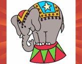 Desenho Elefante a actuar pintado por Craudia
