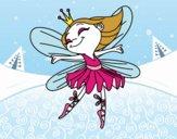 Desenho Fada com alas pintado por jujulindaa