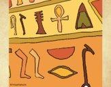 Desenho Hieróglifo pintado por VanVieira