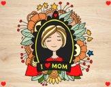 Desenho Homenagem a todas as mães pintado por vanalb