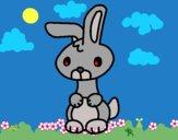 Desenho Art o coelho pintado por ceciliaz