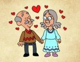 Desenho Avós que querem pintado por vanalb