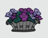 Desenho Cesta de flores 10 pintado por Patricia99