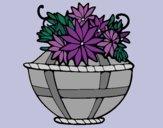 Desenho Cesta de flores 11 pintado por Patricia99