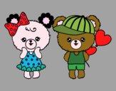 Desenho Kawaii ursos pintado por luzinda