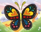 Desenho Mandala borboleta pintado por Smoky