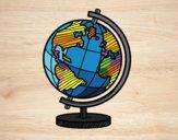 Desenho O globo terrestre pintado por ImShampoo