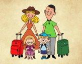 Desenho Uma família de férias pintado por vanalb
