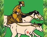 Vaqueiro e vaca