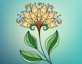 Desenho Flor decorativa pintado por Sillvana