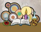 Desenho Livro de feitiços pintado por Craudia