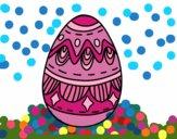 Desenho Ovo da páscoa com diamantes pintado por ceciliaz